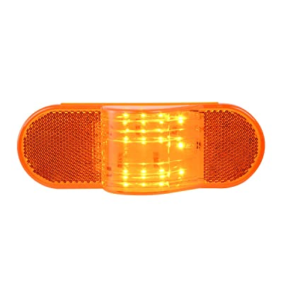 GG Grand General 79995 6 inches Oval Side Amber LED Marker/Turn/Clearance Light w/Reflector for Trucks, Trailers, RVs, Buses, Utility Vehicles: Automotive