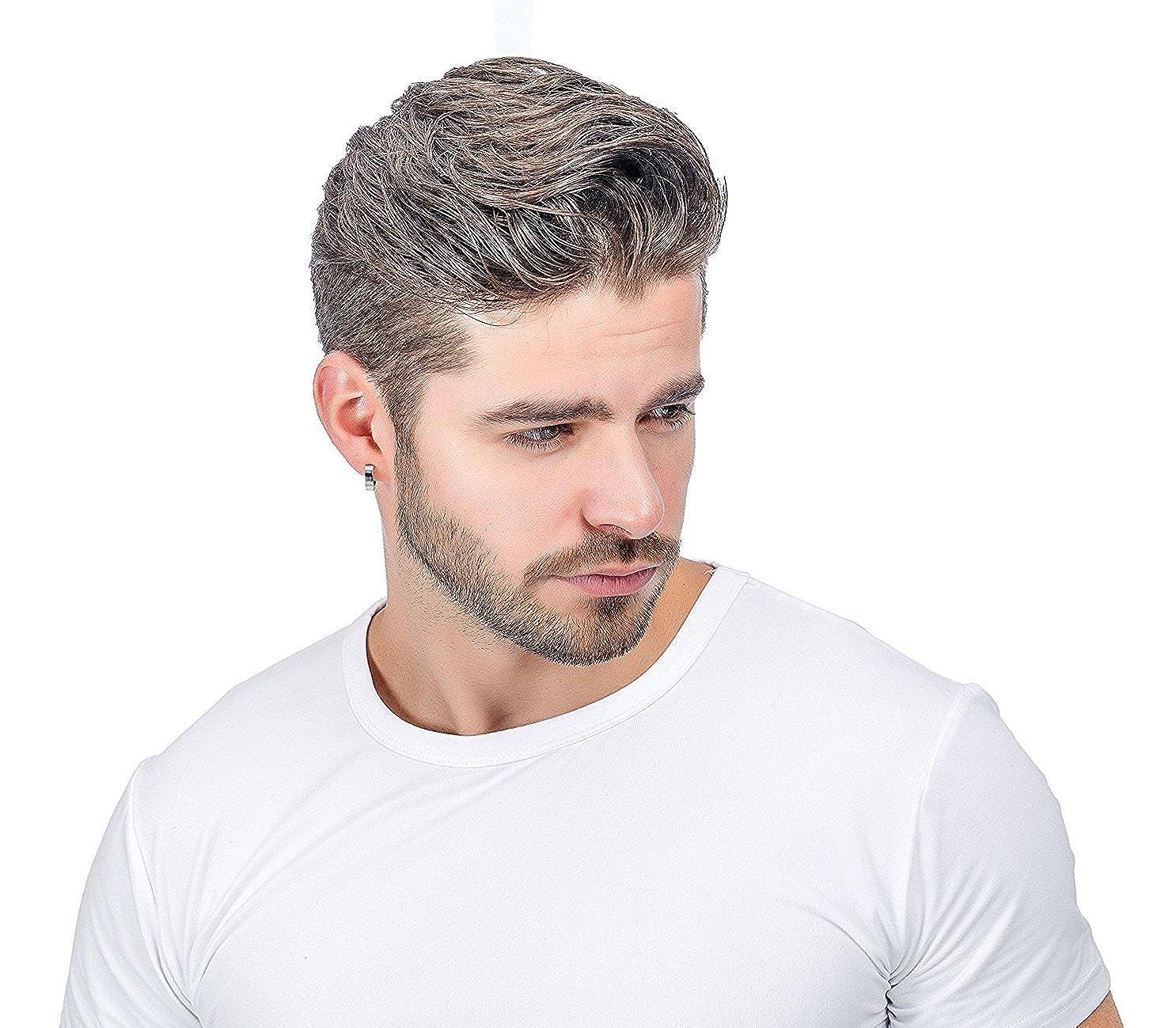 Sailimue 6 Pares de acero inoxidable Pendientes para hombres Mujeres Pendientes de aro Piercing del o/ído 18G