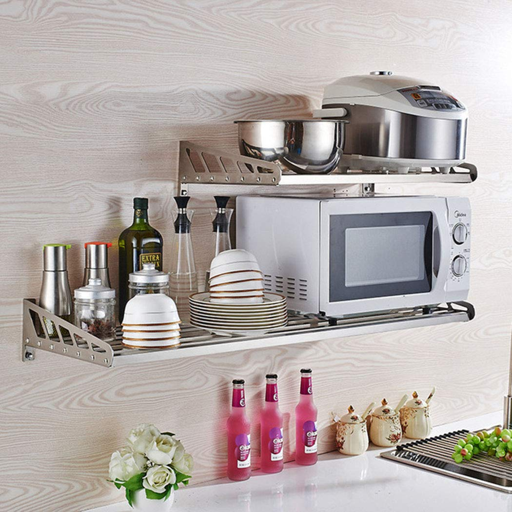 Estante de acero inoxidable para cocina, microondas, horno, cocina ...