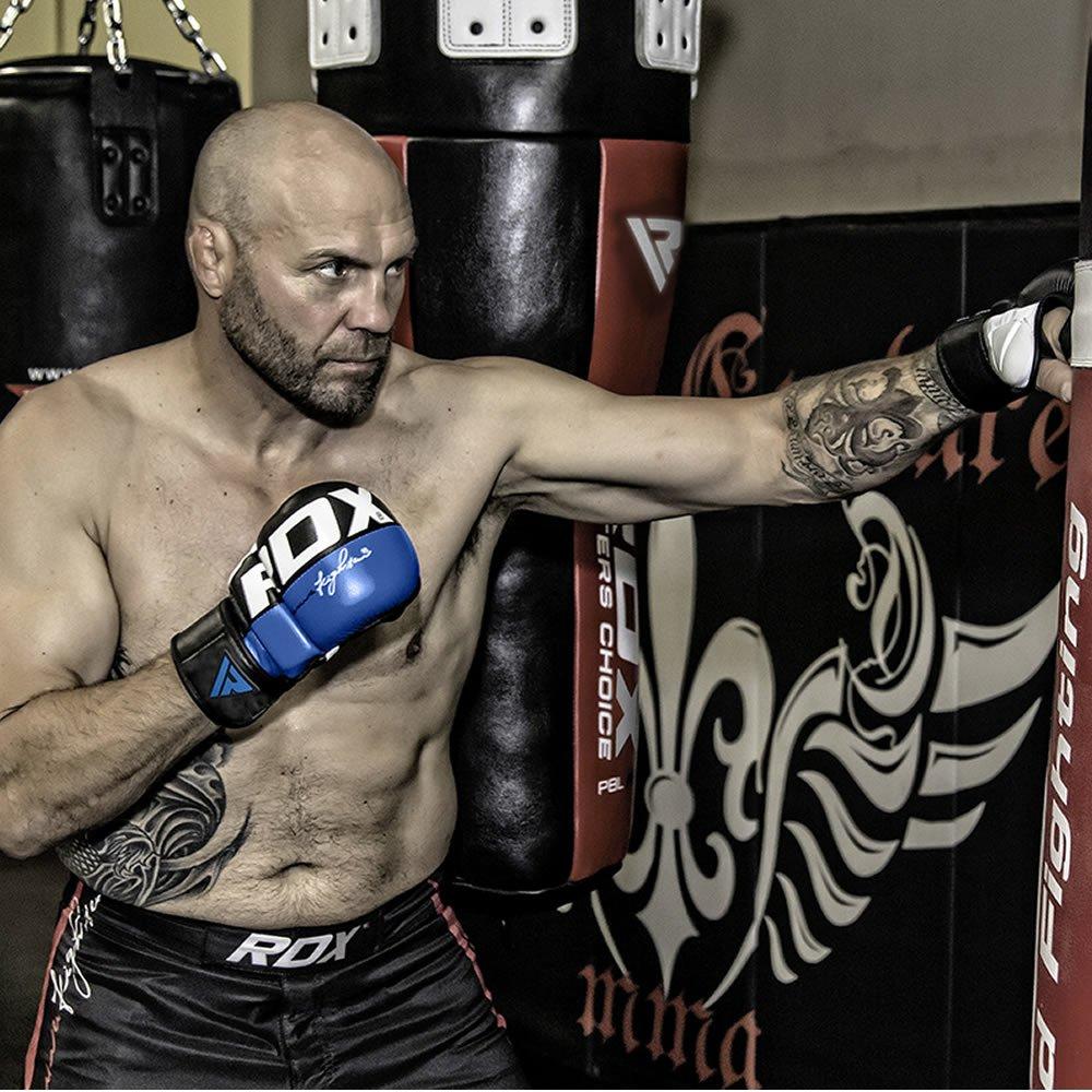 RDX Guanti MMA Maya Hide in Cuoio Grappling Combattimenti Gabbia Sparring Formazione Guanto