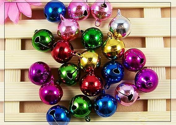Cascabeles multicolor Westeng, 100 unidades, adornos de Navidad: Amazon.es: Bricolaje y herramientas