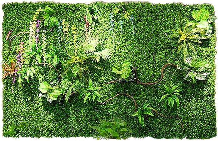 LVZAIXI Paneles De Plantas De Setos Artificiales Verdor De Privacidad Cercado De Césped De Detección for Jardín Exterior Valla Decoración Suelo De Pared (Color : A, Size : 100x100cm): Amazon.es: Hogar