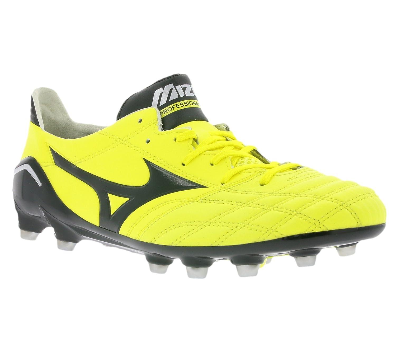 Mizuno Morelia Neo Schuhe Herren Fußballschuhe FG Nocken Gelb P1GA151394, Größenauswahl 41