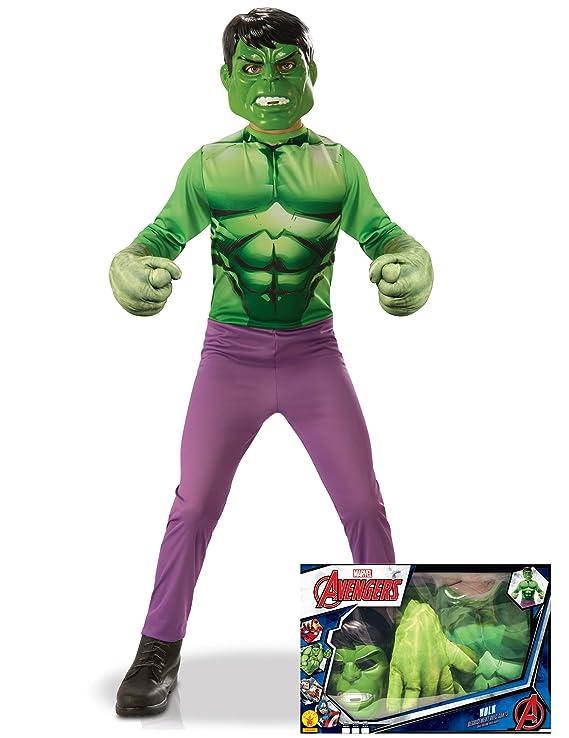 Generique - Cofre clásico Hulk con Guantes Gigantes niño 7 a 8 ...