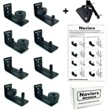 Barn Door Floor Guide Stay Roller Hardware with Latch Lock - Adjustable 8 Different Setup Options - Sliding Doors- Sits Flush to Floor- Best Fit for ALL Barn Doors - No Guess Easy Instruction