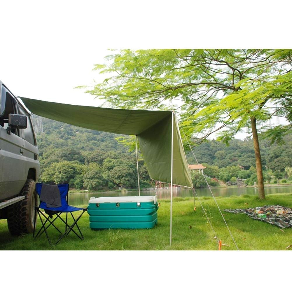 EGECL Car Tent - Folding Sunshade Carports - Anti-UV Roof Top Tent - Car Sun Shelter Awning - Hiking, Climbing, Fishing - Green - 2.8 X 1.8m (Color : Green) by EGECL (Image #6)