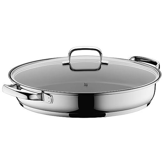 WMF Profi Plus - Sartén con tapa, cromargan 18/10 acero inoxidable 26 cm (Diseñado y fabricado en Alemania)