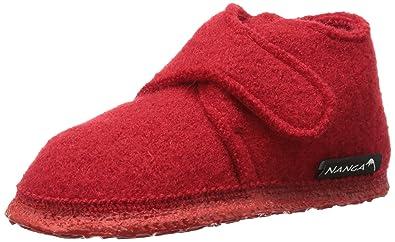 Nanga Leila - Zapatos de primeros pasos de lana bebé - unisex, color rojo, talla 22
