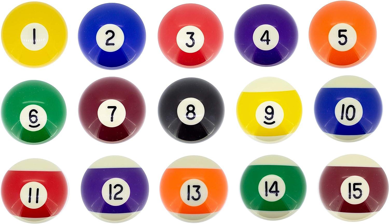 Premiergames - Bolas de billar (57,2 mm), Nr. 3, 57,2mm: Amazon.es: Deportes y aire libre