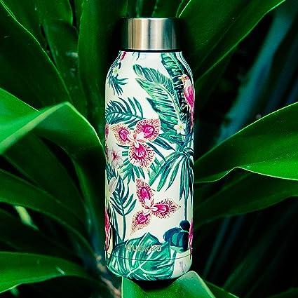 Botella de Agua Termo Quokka Solid Acero Inoxidable | Jungle Flora 510 ML