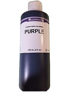 LorAnn Purple Liquid Food Color, 4 ounce bottle