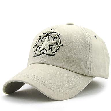 Roffatide Unisex Pentastar Solid Color Cotton Baseball Cap Curved Bill Dad  Hat Strapback Off White eb77b6cf6f1