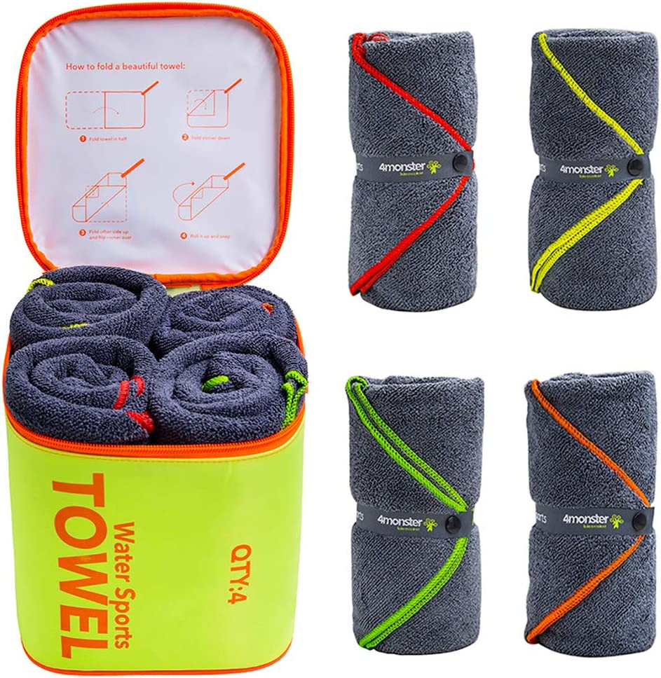 4Monster Microfiber Camping Bath Towel Set