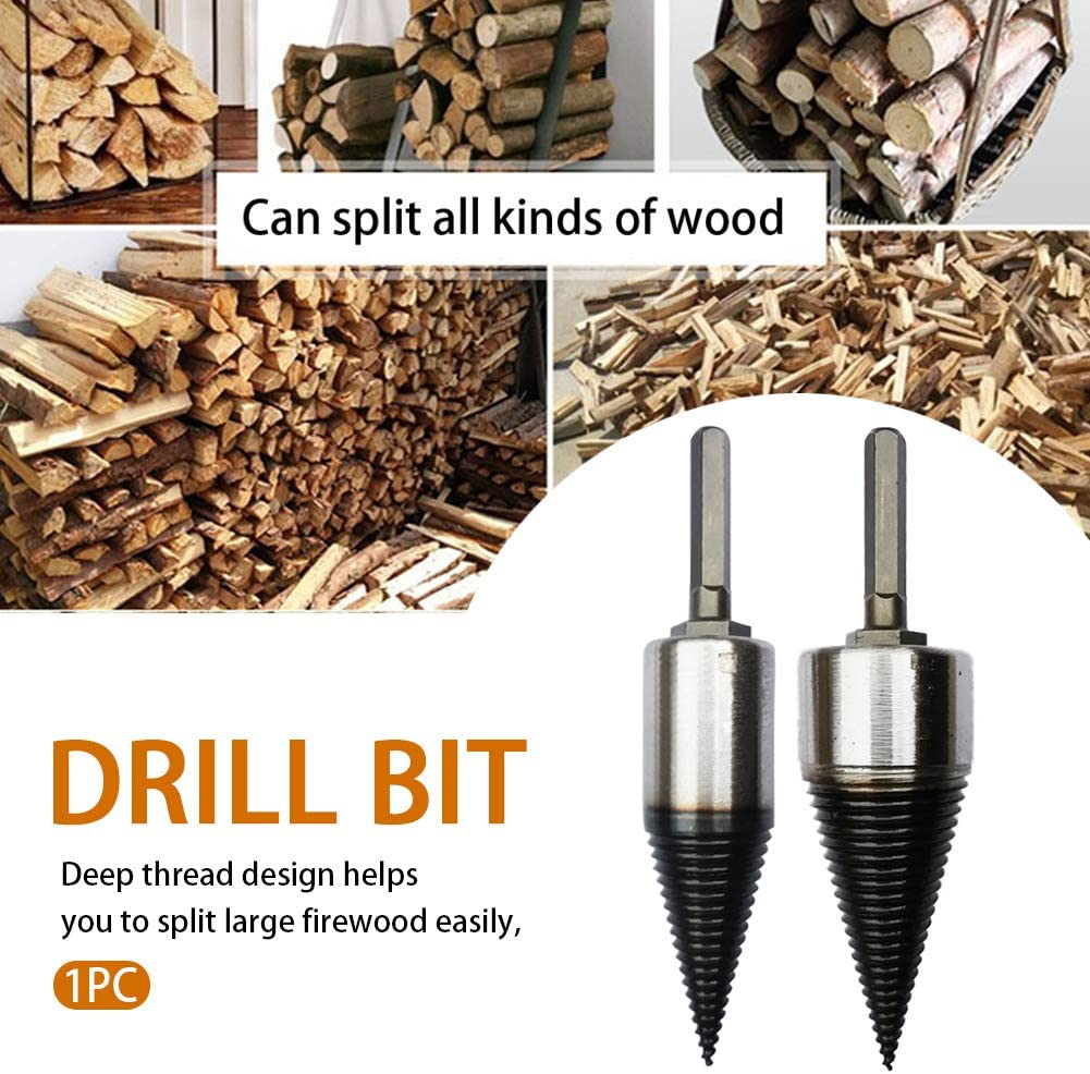 High Speed Punch Tool Hexagonal Shank Twist Firewood Splitter Drill Bit Cutting for Home Farm ZHANGLI Splitting Wood Cone Drill Bit