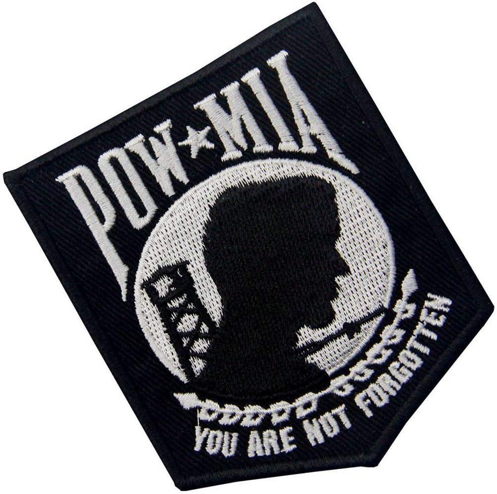 POW MIA Vous N/êtes Pas Oubli/é Emblem Brod/é De Fer /à Coudre Sur Le Patch
