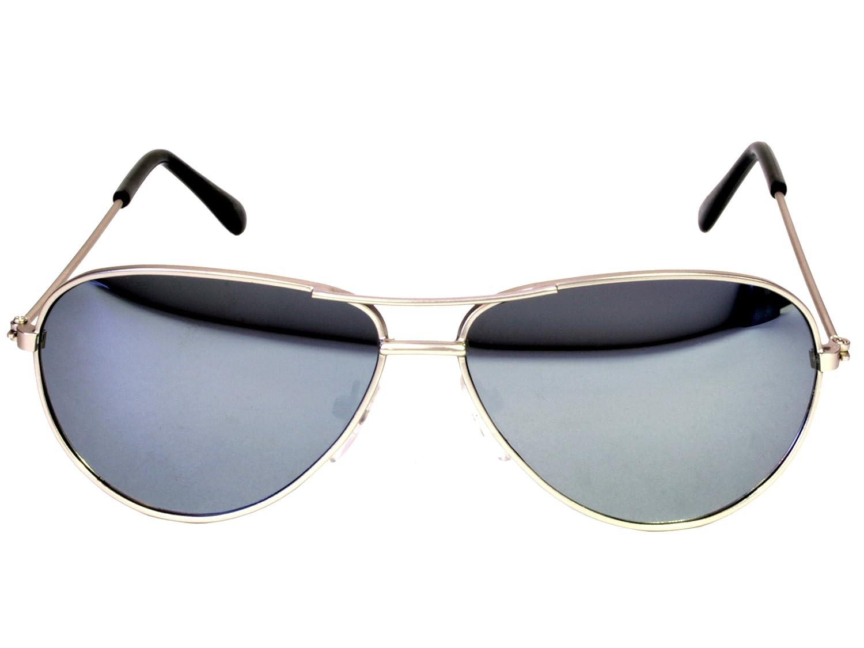 Amazon.com: G&G Kids Small Aviator Sunglasses Mirror Lenses Metal ...
