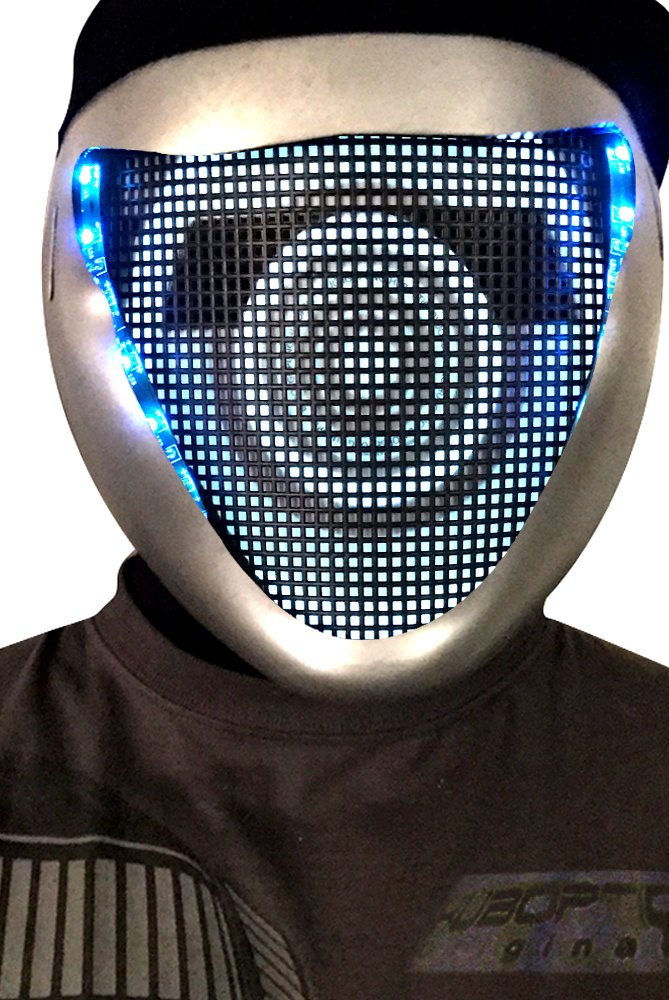 Amazon.com: Original Huboptic BASS FX - Silver Mask Blue LED ...