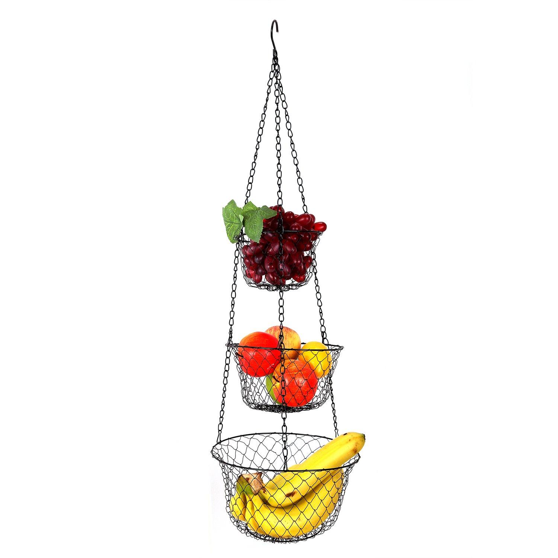 Hängekorb Aufbewahrung Organizer für Früchte, Gemüse Zubehör Sie für Küche und Bad