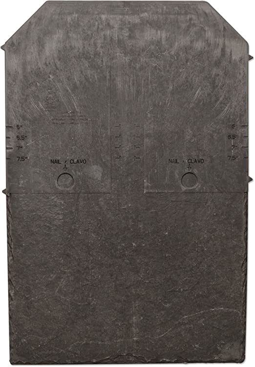 aka Pewter Grey 10 Pack - Steel Grey Tapco Slate Synthetic Ridge Tile