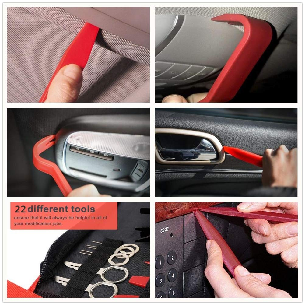 CHEEFULL Car Disassembly Repair Tools Auto Stereo Refit Trim Removal Kits Interior Panel Dashboard Installation Removal Tools Kit (22) by CHEEFULL (Image #4)