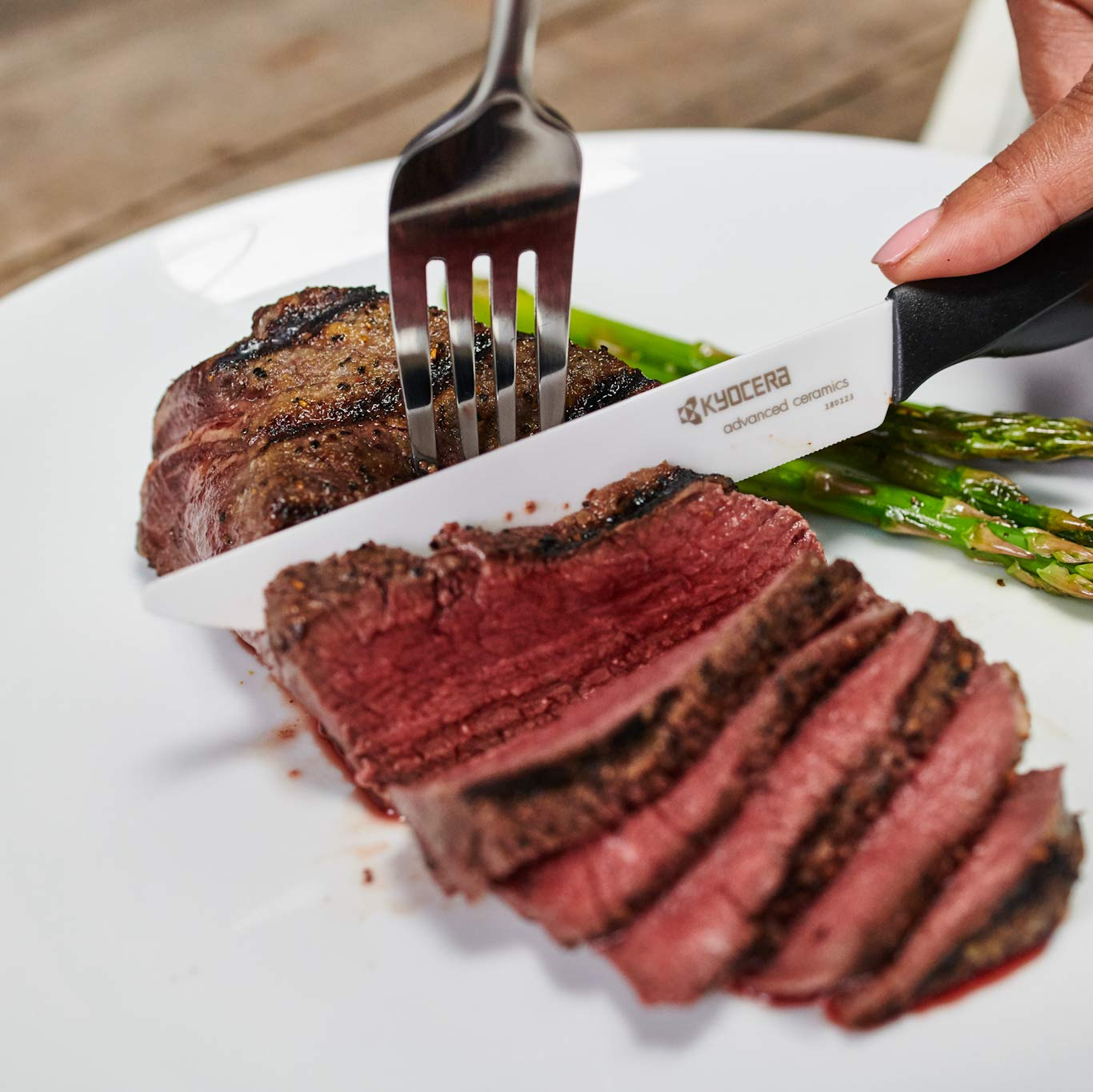 Kyocera SK-4PC Advanced Ceramic Steak Knife Set, One Size, Black/Black by Kyocera (Image #6)