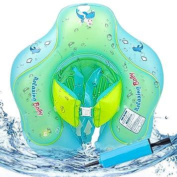 VSTON Anillo Inflable para bebé con Asiento, Flotador Ajustable para Seguridad de Seguridad Floation 3 - 10 Meses Bebé (S)