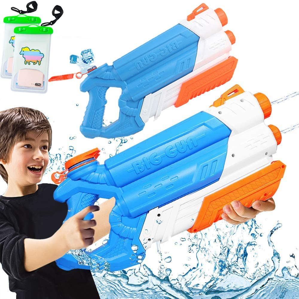 Shark Water Blaster Squirt Guns 700CC High Capacity Water Guns with 30 Feets Range for Boys Girls Toddlers Summer Swimming Pool Beach Sand Outdoor Water Fighting Play Toys