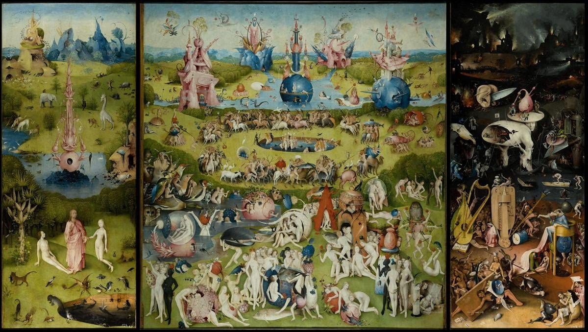 Laminated 42x24 Poster: Hieronymus Bosch - Hieronymous Bosch, Part 1 The Garden of Earthly Delights gospels