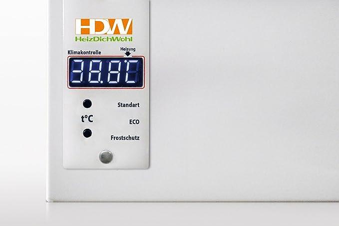 Calefacción por infrarrojos 850 W digital Termostato int konvektionsheizung HDW