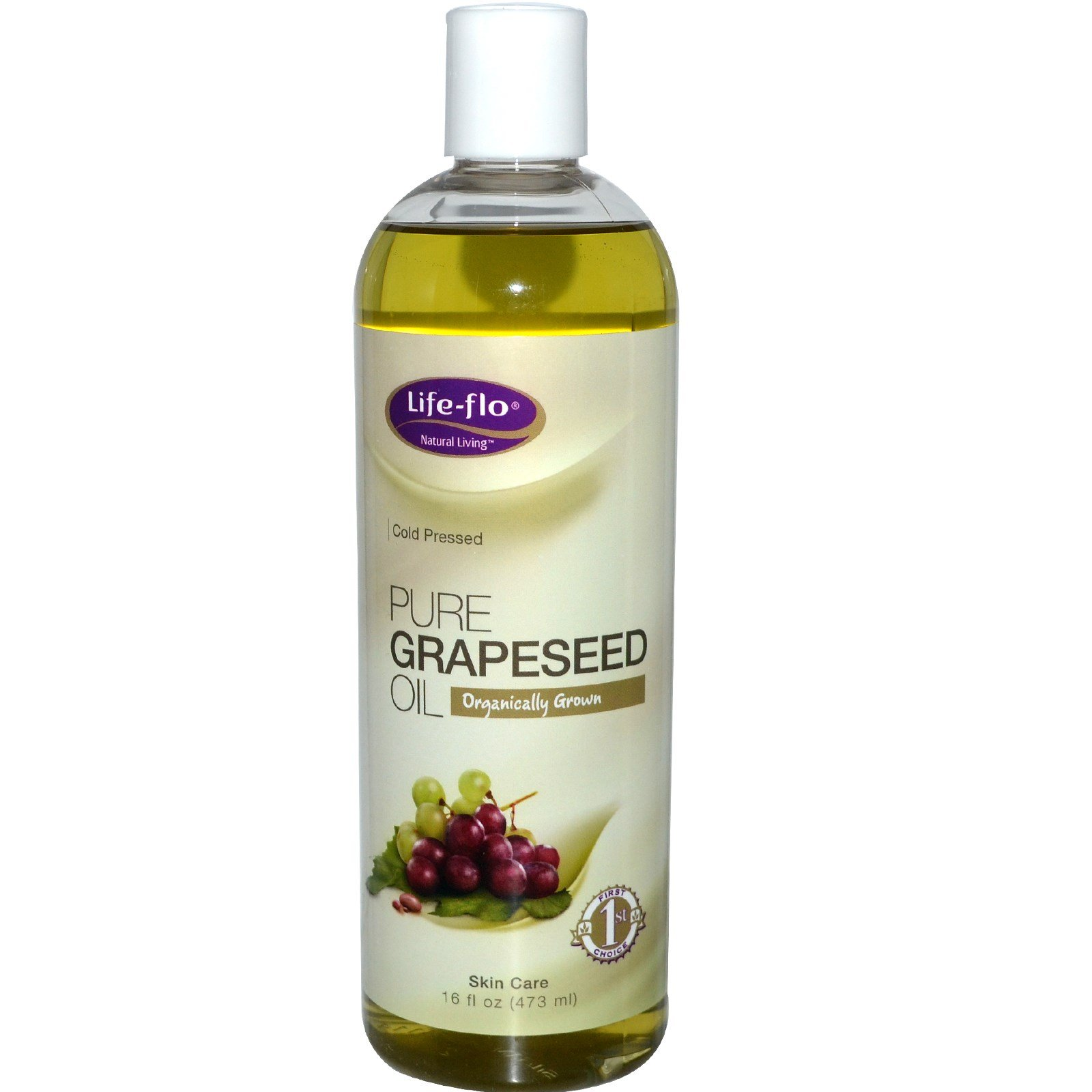 Life Flo Health, Pure Grapeseed Oil, 16 fl oz (473 ml) - 2pc by Life Flo Health (Image #1)