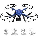 Drocon Bugs 3 Bürstenlose Drohne (Action Kamera Halterung, 1800-mAh Batterie) blau