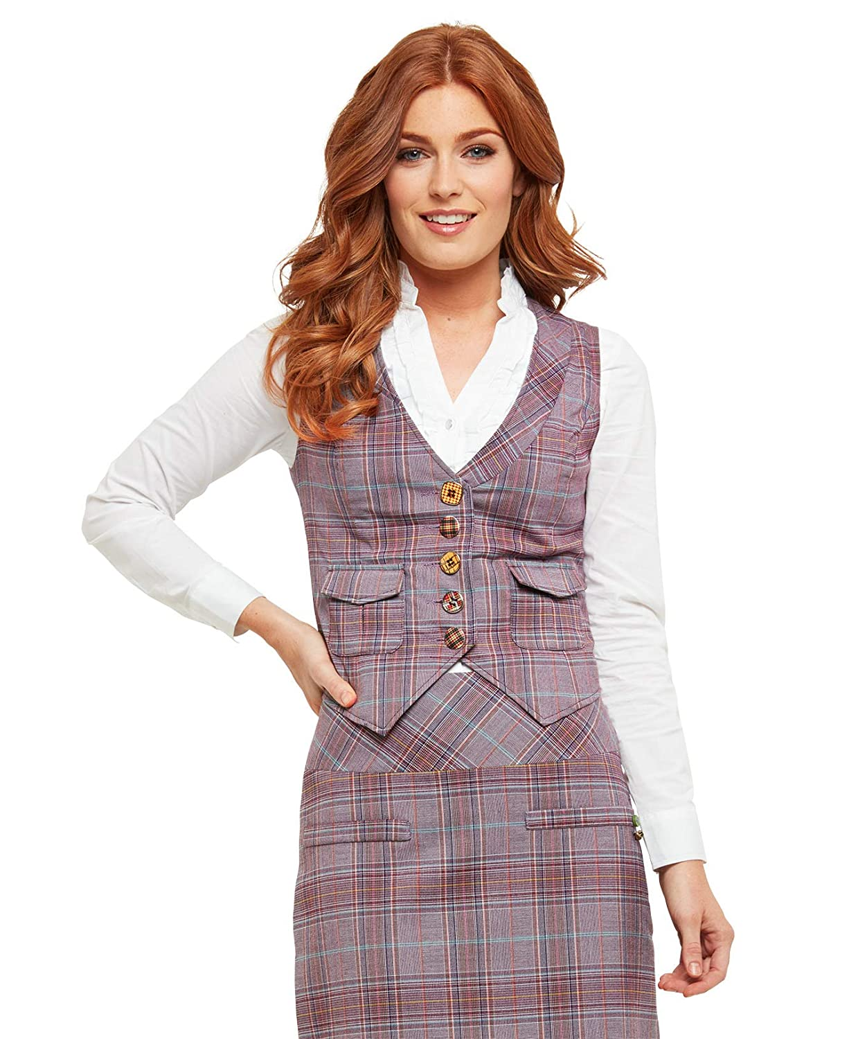 Joe Browns Womens Checked Fully Lined Statement Waistcoat WJ200