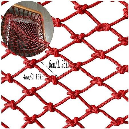 Redes SunYaZhou Balcón Red de seguridad roja, Red de cuerda roja Construcción de valla Red Decoración