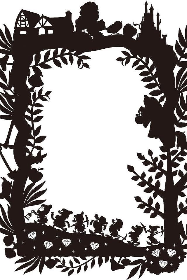 ディズニー 白雪姫 影絵 iPhone(640×960)壁紙画像