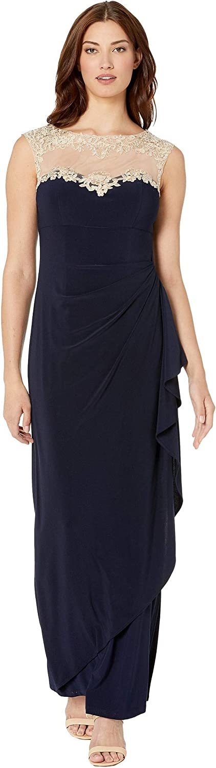 Alex Evenings Women's Long supreme Column Pe Dress Sales results No. 1 Sweetheart Neck with