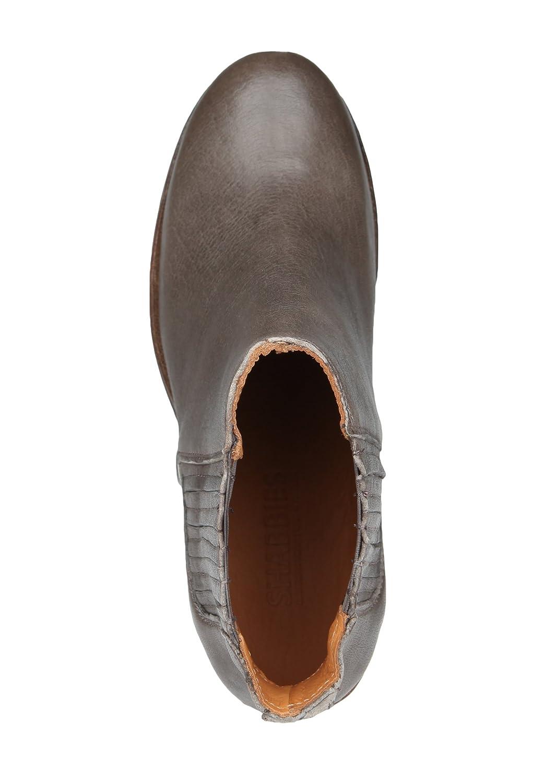 Shabbies Amsterdam Amsterdam Amsterdam Damen Lederstiefelette Ankle Stiefely Elastikeinsätze 88ef31