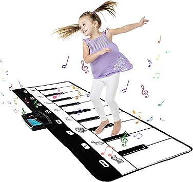 Shayson Alfombra de Piano, Estera de Música Alfombra de Teclado Educativa Táctil Musical Touch Juego Musical para Bebé Niños Navidad Halloween Regalo ...
