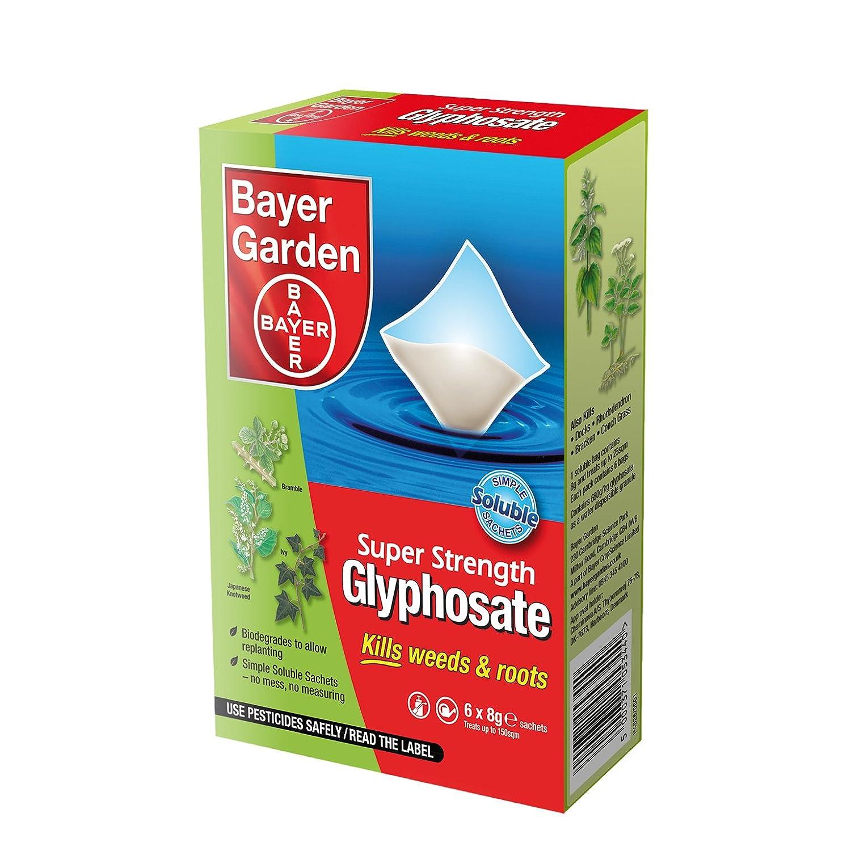 Bayer Garden Super Strength Glyphosate (6 Sachet): Amazon.co.uk: Garden U0026  Outdoors