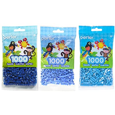 Perler Bead Bag Blue Group (Dark Blue, Light Blue, Pastel Blue): Toys & Games