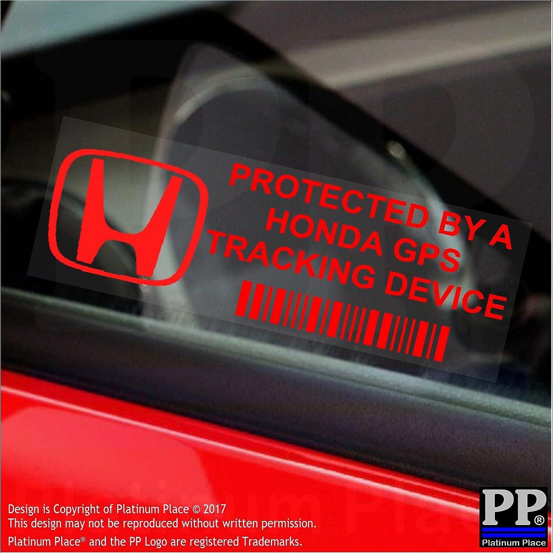 5 Stück Pphondagps 87 X 30 Mm Große Fensteraufkleber Von Platinum Place Gps Tracking Device Security Mit Rotem Schriftzug In Englischer Sprache Für Auto Van Auto