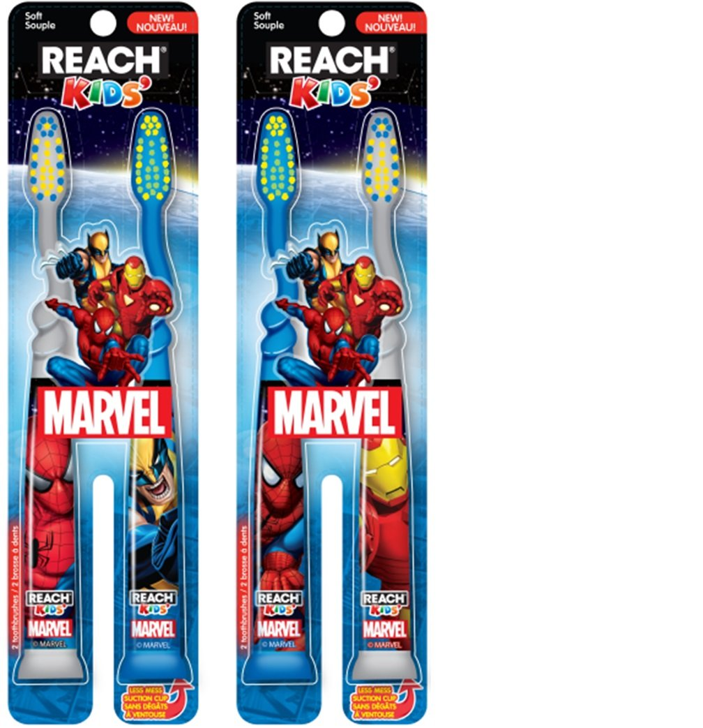 Reach Kids Mavel Soft Toothbrush, 2 Count by Reach B010MP097G