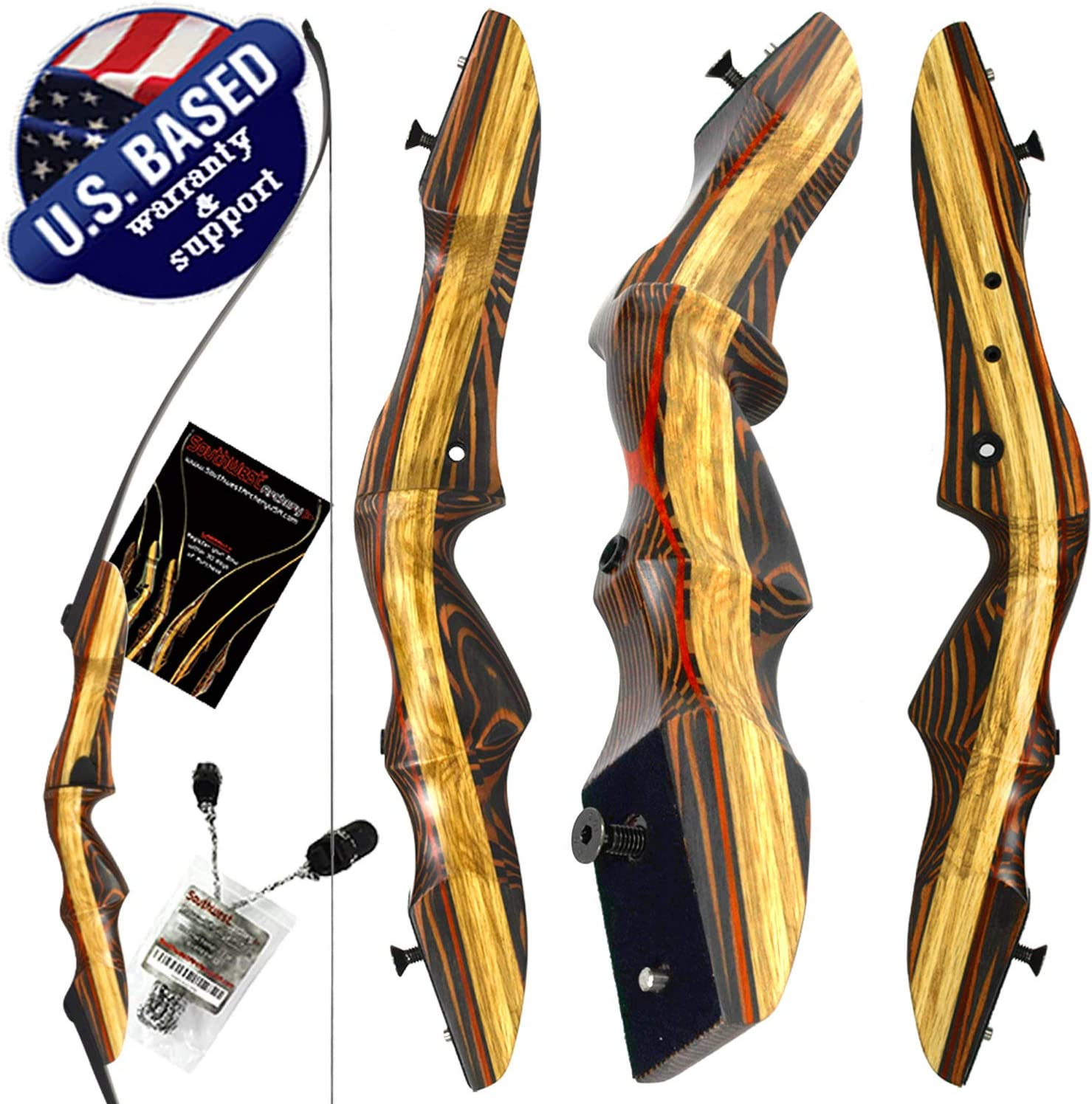 Samick Sage Youth 62 In Takedown Recurve Bow Left or Right Hand Open Box