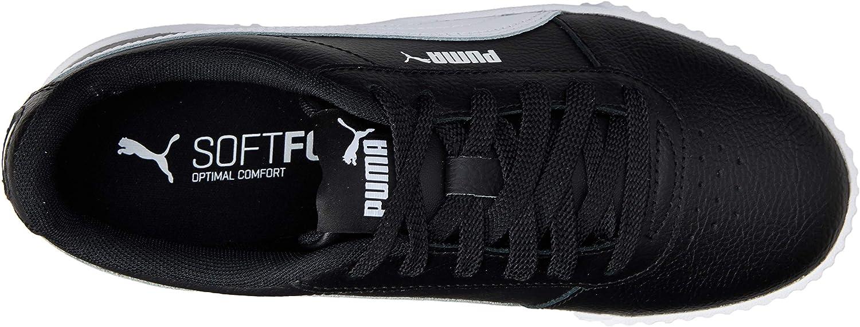 PUMA Women's Zapatilla Baja Sneakers Black (Puma Black-puma White-puma White 16)