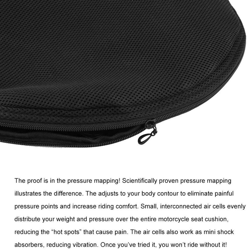 oshidede Motorcycle Seat Cushion Air Fillable Seat Pad Pressure Relief Motorcycle Cushion Universal for Motorcycle