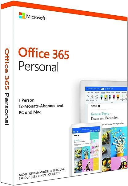 Microsoft Office 365 Personal Jetzt Microsoft 365 Single Multilingual 1 Nutzer Mehrere Pcs Macs Tablets Und Mobile Geräte 1 Jahresabonnement Box Software