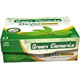 Green Elements - Stevia Sugarfree Powder, Herbal & Natural - 100 Sachets