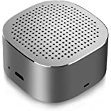 Mini Bluetooth Speaker, Vogek Portable Bluetooth Speaker with Big Sound, Heavy Bass, Compact Pocket Size, Noise-Cancelling Microphone - Space Gray
