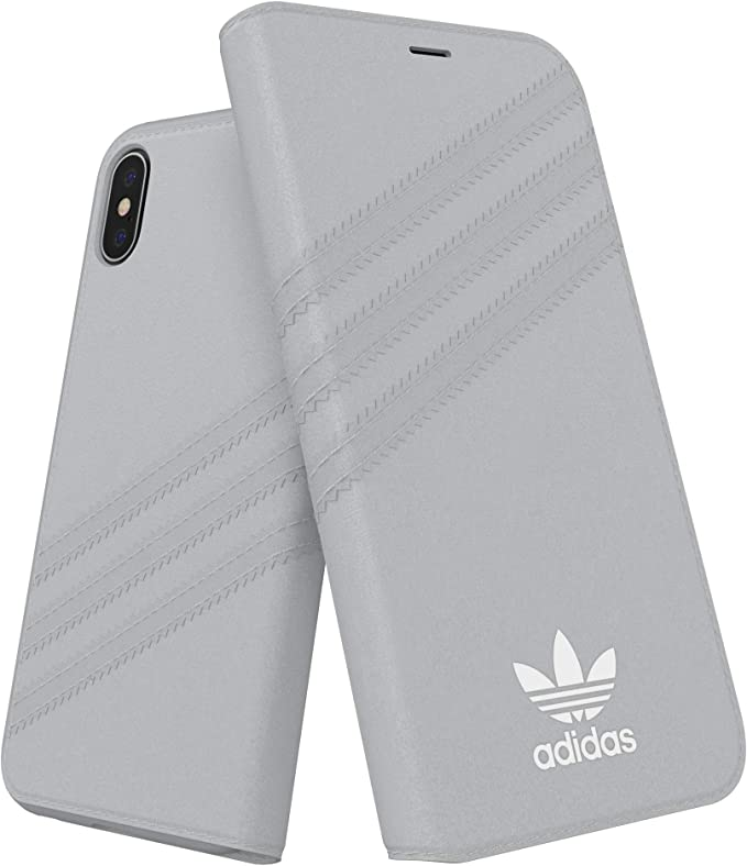 Adidas Originals Wildleder Booklet Case Grau Für Das Iphone Xs X Elektronik