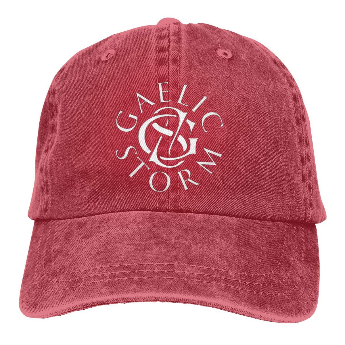 Feeling Unique Gaelic-Storm Vintage Jeans Baseball Cap Classic Cotton Dad Hat Adjustable Plain Cap Black