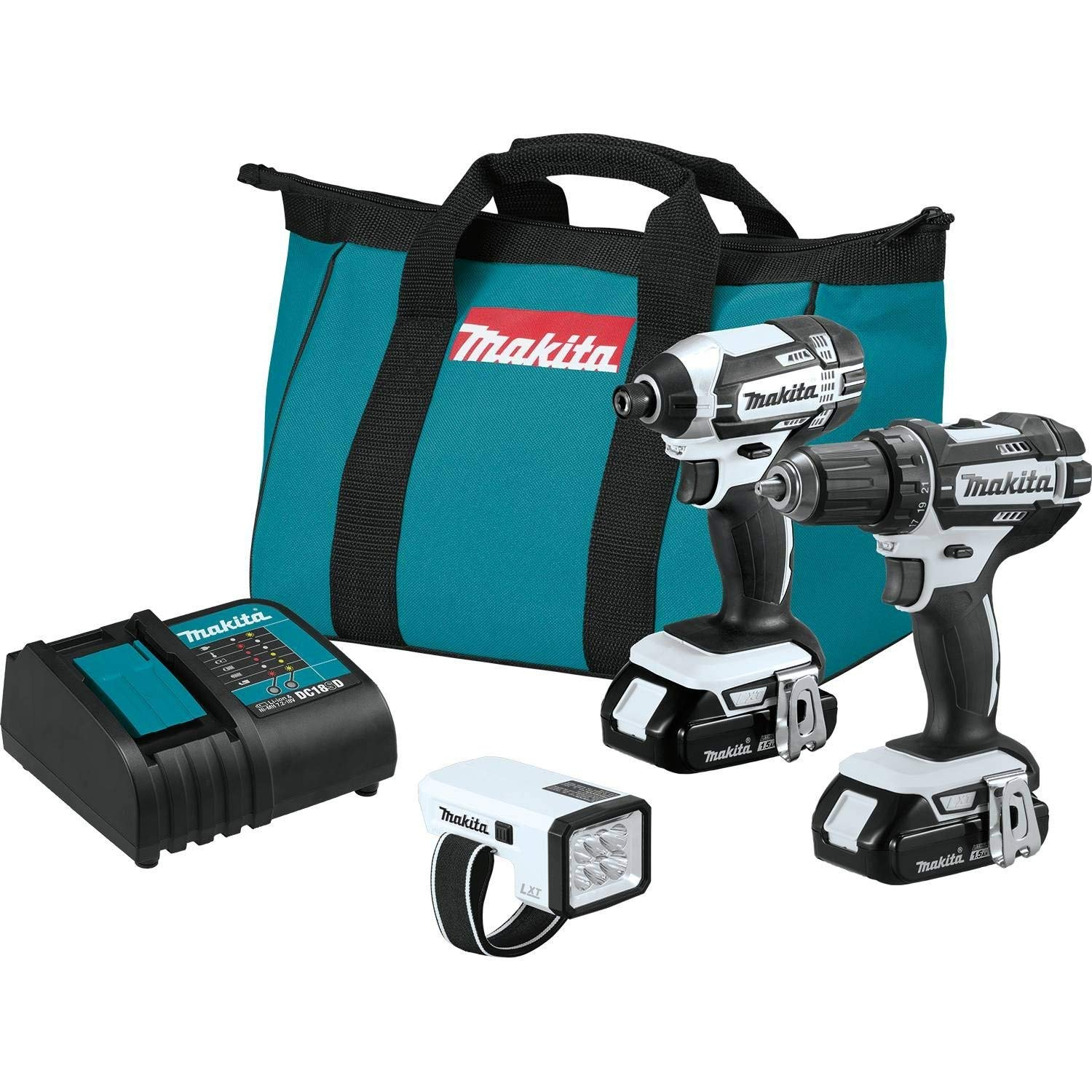 Makita CT322W 18V LXT Lithium-Ion Compact Cordless 3-Pc. Combo Kit (Renewed)